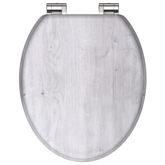 Schütte Holzkern WC-Sitz WHITE Absenkautomatik  80500 Massiv Toilettensitz