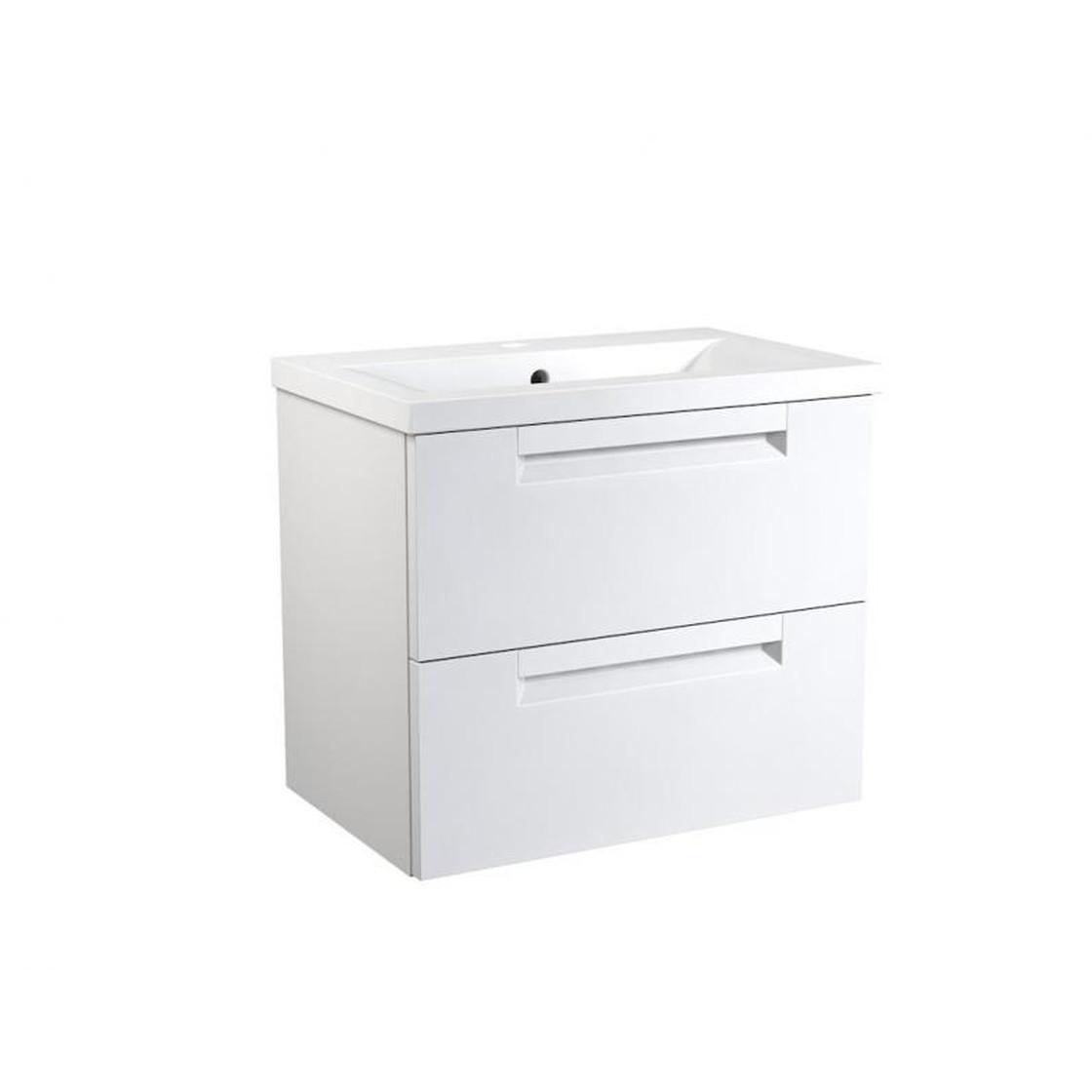 VidaMar Milano Waschtischunterschrank mit 2 Schubladen, Waschtisch, weiß  matt, 60 cm